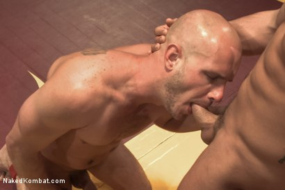 "Photo number 9 from Connor ""The Pulverizer"" Patricks vs Chase ""The Champ"" shot for Naked Kombat on Kink.com. Featuring Connor Patricks and Jonathan Michaels in hardcore BDSM & Fetish porn."