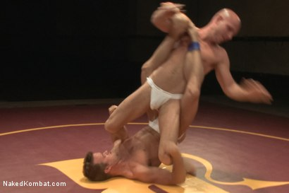 "Photo number 3 from Connor ""The Pulverizer"" Patricks vs Chase ""The Champ"" shot for Naked Kombat on Kink.com. Featuring Connor Patricks and Jonathan Michaels in hardcore BDSM & Fetish porn."