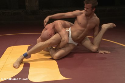 "Photo number 4 from Connor ""The Pulverizer"" Patricks vs Chase ""The Champ"" shot for Naked Kombat on Kink.com. Featuring Connor Patricks and Jonathan Michaels in hardcore BDSM & Fetish porn."