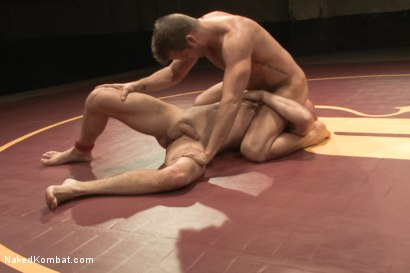 "Photo number 5 from Connor ""The Pulverizer"" Patricks vs Chase ""The Champ"" shot for Naked Kombat on Kink.com. Featuring Connor Patricks and Jonathan Michaels in hardcore BDSM & Fetish porn."