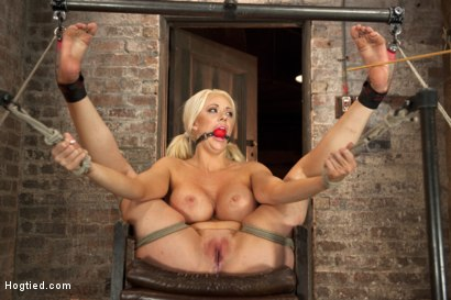 Photo number 10 from Busty California Blonde Courtney Gets Bent, Fucked & Challenged! shot for Hogtied on Kink.com. Featuring Courtney Taylor in hardcore BDSM & Fetish porn.