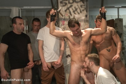 Photo number 11 from Cameron Kincade's Dirty Fantasy  shot for Bound in Public on Kink.com. Featuring Jeremy Stevens and Cameron Kincade in hardcore BDSM & Fetish porn.