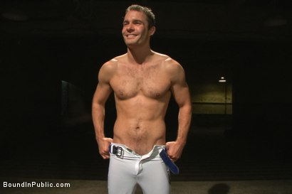 Photo number 15 from Sexy Stud's Wet and Wild Fantasy  shot for Bound in Public on Kink.com. Featuring Jeremy Stevens, Cameron Kincade and Jason Miller in hardcore BDSM & Fetish porn.