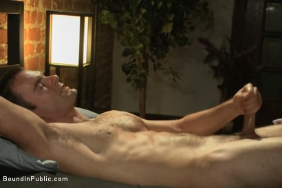 Photo number 14 from Sexy Stud's Wet and Wild Fantasy  shot for Bound in Public on Kink.com. Featuring Jeremy Stevens, Cameron Kincade and Jason Miller in hardcore BDSM & Fetish porn.