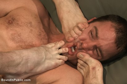 Photo number 10 from Sexy Stud's Wet and Wild Fantasy  shot for Bound in Public on Kink.com. Featuring Jeremy Stevens, Cameron Kincade and Jason Miller in hardcore BDSM & Fetish porn.