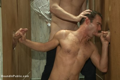 Photo number 1 from Sexy Stud's Wet and Wild Fantasy  shot for Bound in Public on Kink.com. Featuring Jeremy Stevens, Cameron Kincade and Jason Miller in hardcore BDSM & Fetish porn.