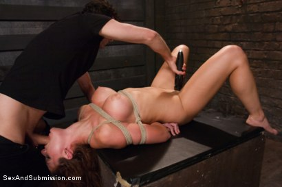Photo number 12 from Rougher, Harder, Crazier!  Kenzie Vaughn shot for Sex And Submission on Kink.com. Featuring James Deen and Kenzie Vaughn in hardcore BDSM & Fetish porn.