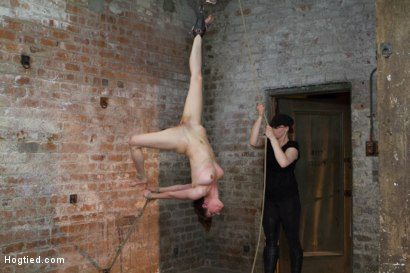 Photo number 8 from Iona Grace - Complete Edited Live Show shot for Hogtied on Kink.com. Featuring Iona Grace and Mz Berlin in hardcore BDSM & Fetish porn.