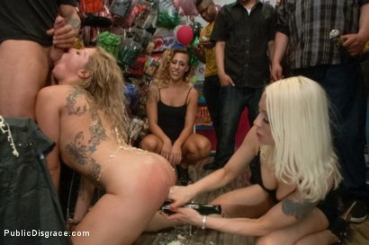 Photo number 5 from Blonde Babe is Bound and Ass Fucked in Public shot for Public Disgrace on Kink.com. Featuring Lorelei Lee, Zoey Monroe and Mr. Pete in hardcore BDSM & Fetish porn.