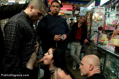 Photo number 8 from My girl lollipop! shot for Public Disgrace on Kink.com. Featuring Karmen Karma and Mark Davis in hardcore BDSM & Fetish porn.