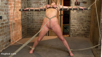 HOT girl next door tomboy gets bent in unforgiving bondage.