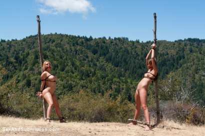 Photo number 5 from Bonding in Nature: Step Mom and Daughter BDSM Camping Adventure shot for Sex And Submission on Kink.com. Featuring Tommy Pistol, Krissy Lynn and Cassandra Nix in hardcore BDSM & Fetish porn.