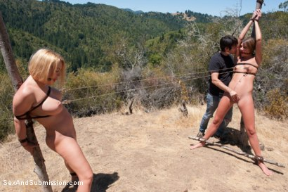 Photo number 6 from Bonding in Nature: Step Mom and Daughter BDSM Camping Adventure shot for Sex And Submission on Kink.com. Featuring Tommy Pistol, Krissy Lynn and Cassandra Nix in hardcore BDSM & Fetish porn.