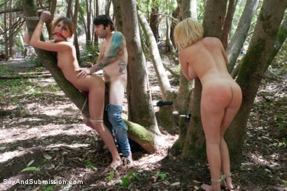 Photo number 11 from Bonding in Nature: Step Mom and Daughter BDSM Camping Adventure shot for Sex And Submission on Kink.com. Featuring Tommy Pistol, Krissy Lynn and Cassandra Nix in hardcore BDSM & Fetish porn.