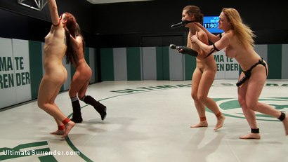 Photo number 1 from Round 4 April Tag match. Nightmare is Nobody's fool shot for Ultimate Surrender on Kink.com. Featuring Cheyenne Jewel, Dee Williams, Audrey Rose, Syd Blakovich and Penny Barber in hardcore BDSM & Fetish porn.
