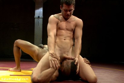 "Photo number 6 from Hayden ""The Swank"" Richards vs Troy ""The Tank"" Sparks shot for Naked Kombat on Kink.com. Featuring Hayden Richards and Troy Sparks in hardcore BDSM & Fetish porn."