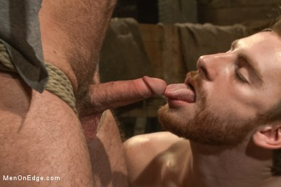 Photo number 4 from Hairy Muscle Hunk Has His Cock Edged By Two Farmers shot for Men On Edge on Kink.com. Featuring Brayden Forrester in hardcore BDSM & Fetish porn.