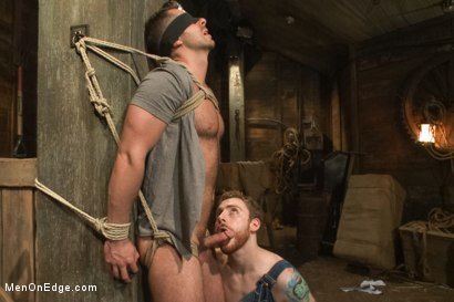 Photo number 3 from Hairy Muscle Hunk Has His Cock Edged By Two Farmers shot for Men On Edge on Kink.com. Featuring Brayden Forrester in hardcore BDSM & Fetish porn.