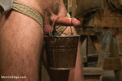 Photo number 6 from Hairy Muscle Hunk Has His Cock Edged By Two Farmers shot for Men On Edge on Kink.com. Featuring Brayden Forrester in hardcore BDSM & Fetish porn.
