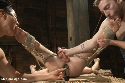 Photo number 12 from Hairy Muscle Hunk Has His Cock Edged By Two Farmers shot for Men On Edge on Kink.com. Featuring Brayden Forrester in hardcore BDSM & Fetish porn.