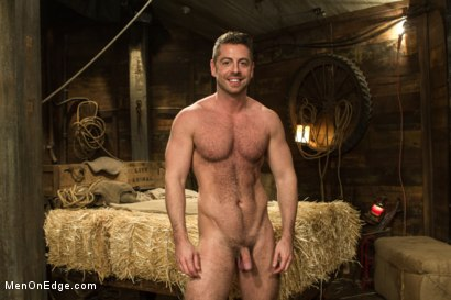 Photo number 15 from Hairy Muscle Hunk Has His Cock Edged By Two Farmers shot for Men On Edge on Kink.com. Featuring Brayden Forrester in hardcore BDSM & Fetish porn.