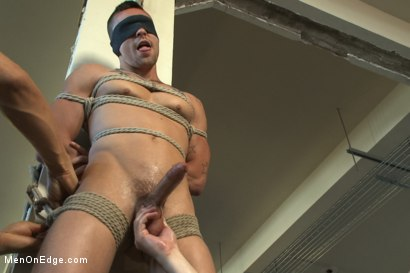 Photo number 4 from Straight Hunk Johnny Torque's First Time Bound shot for Men On Edge on Kink.com. Featuring Johnny Torque in hardcore BDSM & Fetish porn.