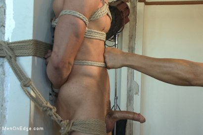 Photo number 3 from Straight Hunk Johnny Torque's First Time Bound shot for Men On Edge on Kink.com. Featuring Johnny Torque in hardcore BDSM & Fetish porn.
