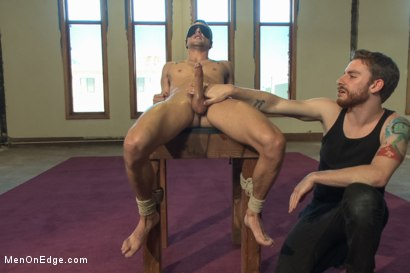 Photo number 8 from Straight Hunk Johnny Torque's First Time Bound shot for Men On Edge on Kink.com. Featuring Johnny Torque in hardcore BDSM & Fetish porn.