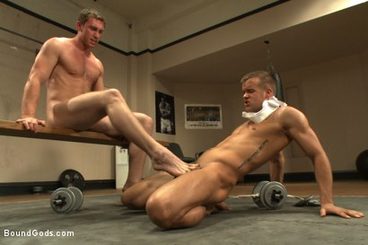 Gym pervert beaten down and fucked into submission