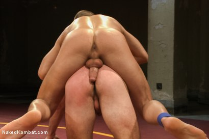 "Photo number 11 from Cameron ""The Kin-Killer-Cade"" vs Connor ""The Pulverizer"" Patricks  shot for Naked Kombat on Kink.com. Featuring Connor Patricks and Cameron Kincade in hardcore BDSM & Fetish porn."