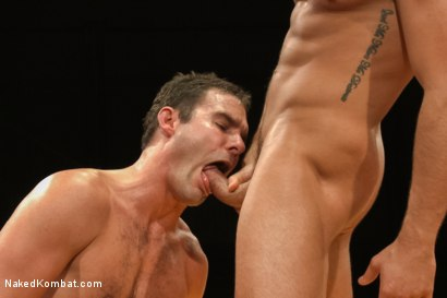 "Photo number 12 from Cameron ""The Kin-Killer-Cade"" vs Connor ""The Pulverizer"" Patricks  shot for Naked Kombat on Kink.com. Featuring Connor Patricks and Cameron Kincade in hardcore BDSM & Fetish porn."