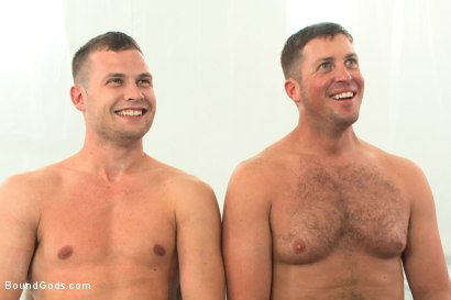 Photo number 15 from Wings of Desire - A Bound Gods Feature Presentation shot for Bound Gods on Kink.com. Featuring Hayden Richards and Tanner Wayne in hardcore BDSM & Fetish porn.