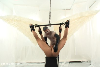 Photo number 10 from Wings of Desire - A Bound Gods Feature Presentation shot for Bound Gods on Kink.com. Featuring Hayden Richards and Tanner Wayne in hardcore BDSM & Fetish porn.