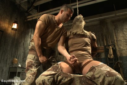 Photo number 2 from Wings of Desire - A Bound Gods Feature Presentation shot for Bound Gods on Kink.com. Featuring Hayden Richards and Tanner Wayne in hardcore BDSM & Fetish porn.