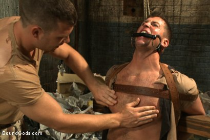 Photo number 4 from Wings of Desire - A Bound Gods Feature Presentation shot for Bound Gods on Kink.com. Featuring Hayden Richards and Tanner Wayne in hardcore BDSM & Fetish porn.