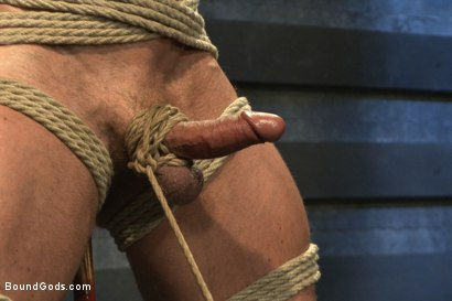 Photo number 2 from Indestructible Derek Pain  shot for Bound Gods on Kink.com. Featuring Derek Pain, Van Darkholme and Rowen Jackson in hardcore BDSM & Fetish porn.