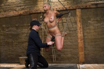 Photo number 4 from DyNaMiTe - Katie Summers Brings It - LIVE shot for Hogtied on Kink.com. Featuring Katie Summers in hardcore BDSM & Fetish porn.