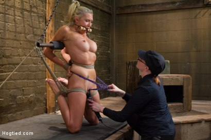 Photo number 5 from DyNaMiTe - Katie Summers Brings It - LIVE shot for Hogtied on Kink.com. Featuring Katie Summers in hardcore BDSM & Fetish porn.
