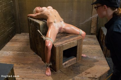 Photo number 12 from DyNaMiTe - Katie Summers Brings It - LIVE shot for Hogtied on Kink.com. Featuring Katie Summers in hardcore BDSM & Fetish porn.