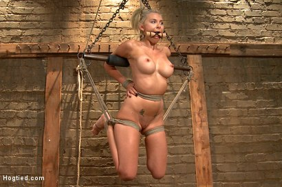 Photo number 15 from DyNaMiTe - Katie Summers Brings It - LIVE shot for Hogtied on Kink.com. Featuring Katie Summers in hardcore BDSM & Fetish porn.