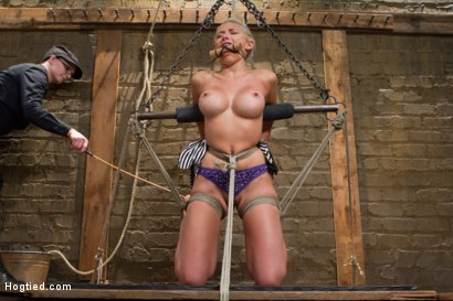 Photo number 2 from DyNaMiTe - Katie Summers Brings It - LIVE shot for Hogtied on Kink.com. Featuring Katie Summers in hardcore BDSM & Fetish porn.
