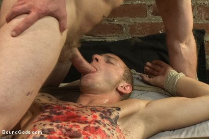 Photo number 10 from The Door to Door Missionary shot for Bound Gods on Kink.com. Featuring Randall O'Reilly and Adam Herst in hardcore BDSM & Fetish porn.