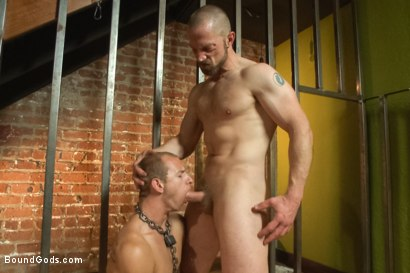 Photo number 6 from The Door to Door Missionary shot for Bound Gods on Kink.com. Featuring Randall O'Reilly and Adam Herst in hardcore BDSM & Fetish porn.