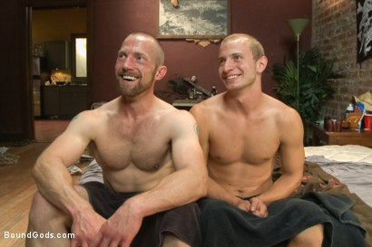 Photo number 15 from The Door to Door Missionary shot for Bound Gods on Kink.com. Featuring Randall O'Reilly and Adam Herst in hardcore BDSM & Fetish porn.
