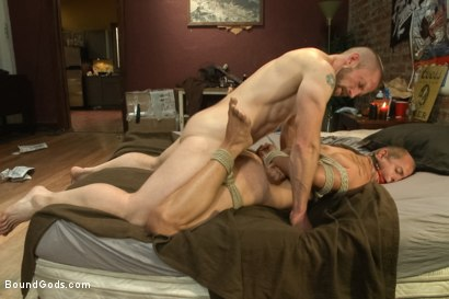 Photo number 14 from The Door to Door Missionary shot for Bound Gods on Kink.com. Featuring Randall O'Reilly and Adam Herst in hardcore BDSM & Fetish porn.