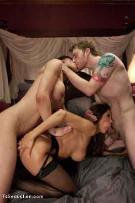 Photo number 6 from TS THREESOME: SEDUCING & FUCKING THE BLACKMAILING COLLEGE DEAN shot for TS Seduction on Kink.com. Featuring Francesca Le , Venus Lux and Sebastian Keys in hardcore BDSM & Fetish porn.