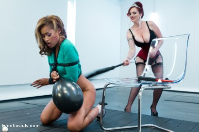 Photo number 1 from HAPPY BIRTHDAY MZ. BERLIN!!!!!!!! shot for Electro Sluts on Kink.com. Featuring Skin Diamond and Mz Berlin in hardcore BDSM & Fetish porn.