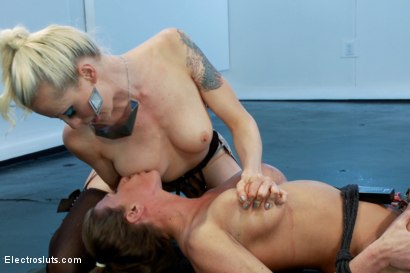"""Photo number 16 from Ariel X is Pushed to the Limit and Cries """"Mercy""""!! shot for Electro Sluts on Kink.com. Featuring Lorelei Lee and Ariel X in hardcore BDSM & Fetish porn."""