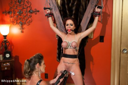Photo number 6 from First Kinky Lesbian Experience shot for Whipped Ass on Kink.com. Featuring Ashlee Graham and Felony in hardcore BDSM & Fetish porn.