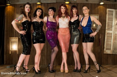 Photo number 1 from FemDom Theatre 2 shot for Divine Bitches on Kink.com. Featuring John Jammen, Maitresse Madeline Marlowe , Odile, Nerine Mechanique, Elizabeth Thorn, Arabelle Raphael and Keira Quinn in hardcore BDSM & Fetish porn.